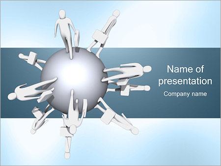 Шаблон презентации Бизнес сфера - Титульный слайд