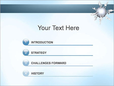 Шаблон для презентации Бизнес сфера - Третий слайд