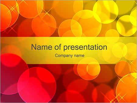 Шаблон презентации Красные и желтый мыльные пузыри - Титульный слайд