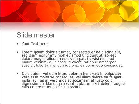 Шаблон PowerPoint Красные и желтый мыльные пузыри - Второй слайд