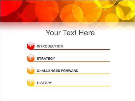 Шаблон для презентации Красные и желтый мыльные пузыри - Третий слайд