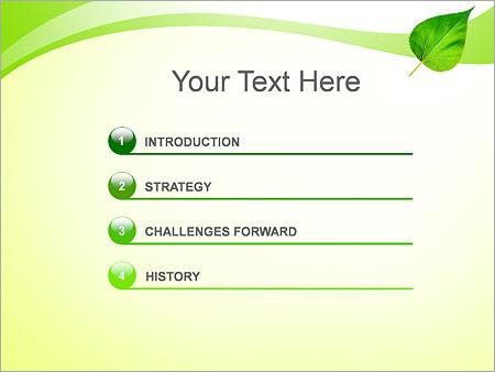 Шаблон для презентации Зеленый лист - Третий слайд