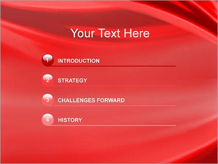 Шаблон для презентации Красная ткань - Третий слайд
