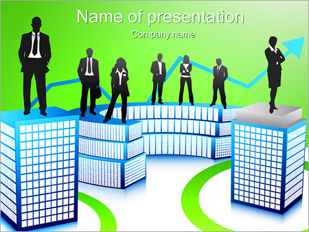Шаблон презентации Бизнесмены - Титульный слайд
