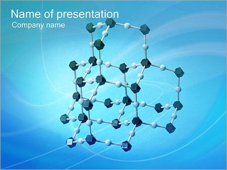 Шаблон презентации Молекулы - Титульный слайд
