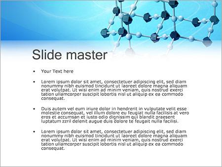 Шаблон PowerPoint Молекулы - Второй слайд