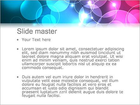 Шаблон PowerPoint Бирюзовые и фиолетовые пузыри - Второй слайд