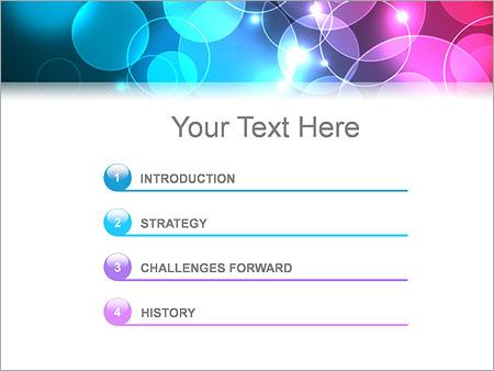 Шаблон для презентации Бирюзовые и фиолетовые пузыри - Третий слайд
