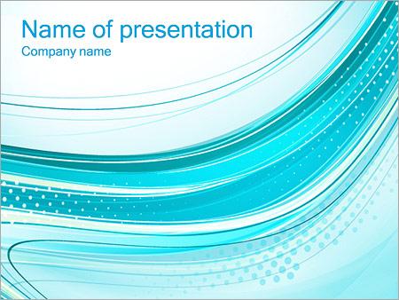Шаблон презентации Бирюзовые волны и перфорация - Титульный слайд