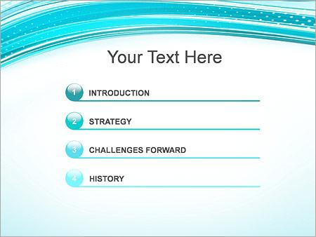 Шаблон для презентации Бирюзовые волны и перфорация - Третий слайд