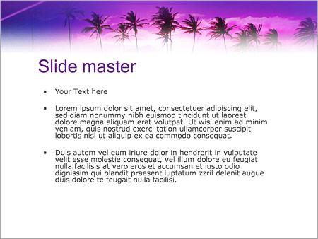 Шаблон PowerPoint Пальмы на закате - Второй слайд