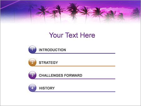 Шаблон для презентации Пальмы на закате - Третий слайд