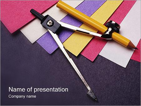Шаблон презентации Циркуль - Титульный слайд