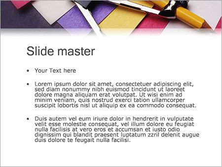 Шаблон PowerPoint Циркуль - Второй слайд