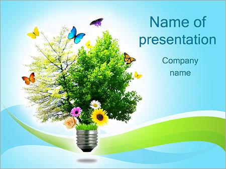 Шаблон презентации Экологически чистая энергия - Титульный слайд