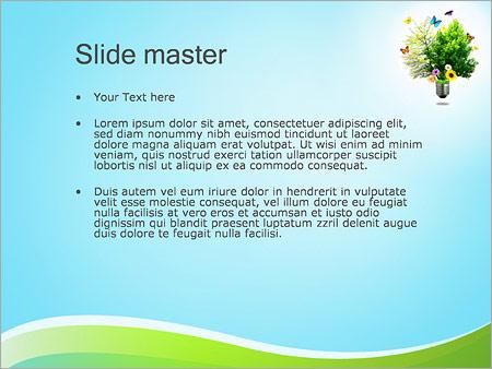 Шаблон PowerPoint Экологически чистая энергия - Второй слайд