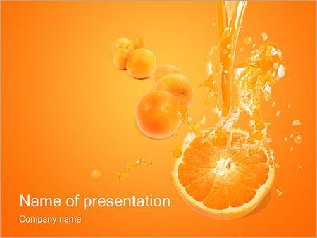 Шаблон презентации Апельсиновый сок - Титульный слайд