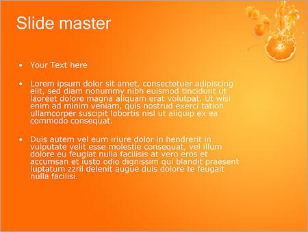 Шаблон PowerPoint Апельсиновый сок - Второй слайд