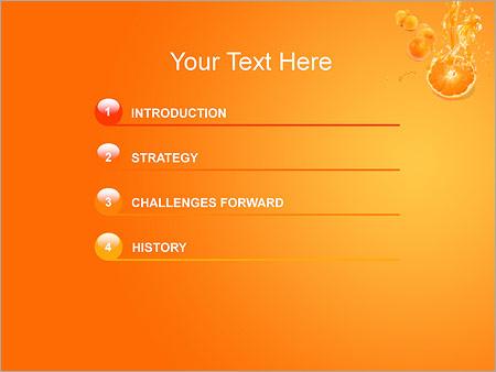 Шаблон для презентации Апельсиновый сок - Третий слайд