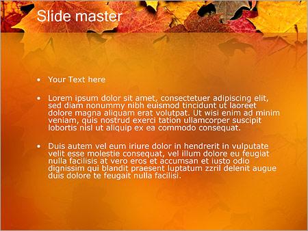 Шаблон PowerPoint Осень - Второй слайд