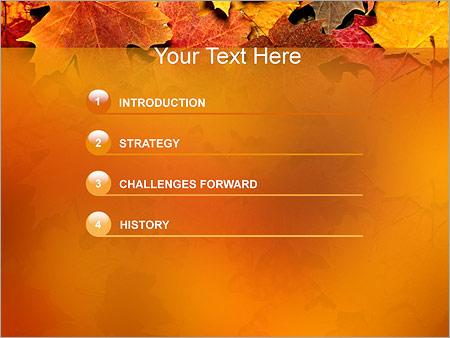 Шаблон для презентации Осень - Третий слайд