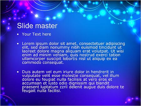 Шаблон PowerPoint Светящиеся бусины - Второй слайд