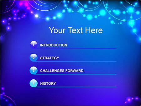 Шаблон для презентации Светящиеся бусины - Третий слайд