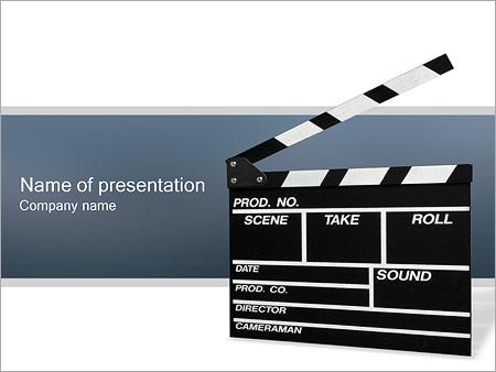 Шаблон презентации Хлопушка для кино - Титульный слайд