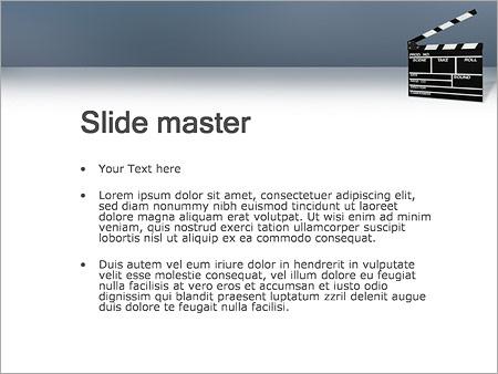 Шаблон PowerPoint Хлопушка для кино - Второй слайд