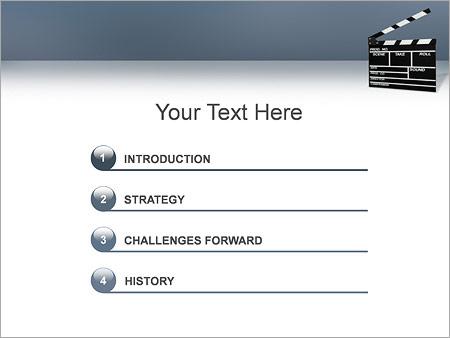 Шаблон для презентации Хлопушка для кино - Третий слайд