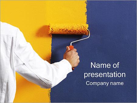 Шаблон презентации Окрашивание стен - Титульный слайд