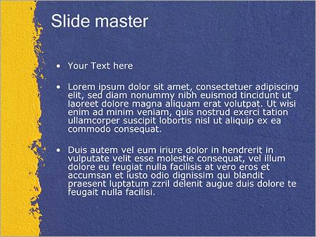 Шаблон PowerPoint Окрашивание стен - Второй слайд