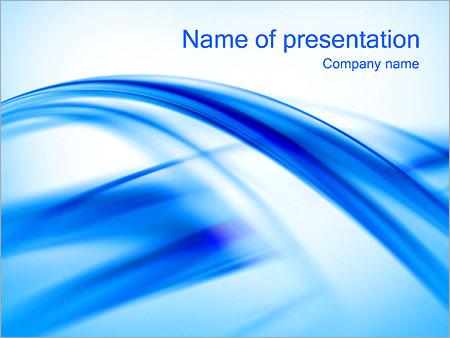 Шаблон презентации Голубые ленты - Титульный слайд