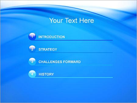 Шаблон для презентации Голубые ленты - Третий слайд