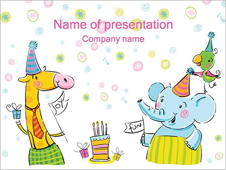 Шаблон презентации День рождения ребенка - Титульный слайд