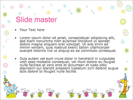 Шаблон PowerPoint День рождения ребенка - Второй слайд