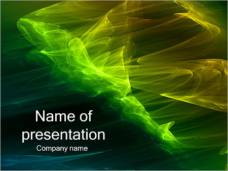 Шаблон презентации Зеленый ветер - Титульный слайд