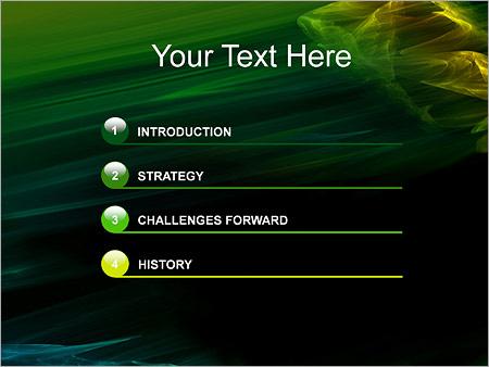 Шаблон для презентации Зеленый ветер - Третий слайд