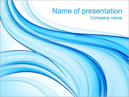 Шаблон презентации Голубое течение - Титульный слайд