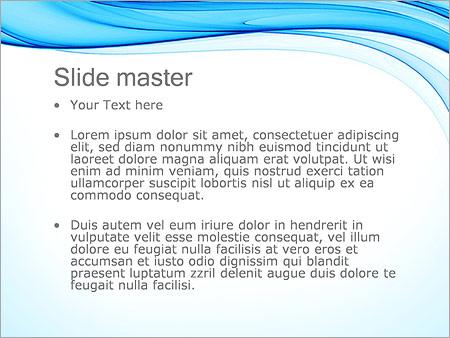 Шаблон PowerPoint Голубое течение - Второй слайд