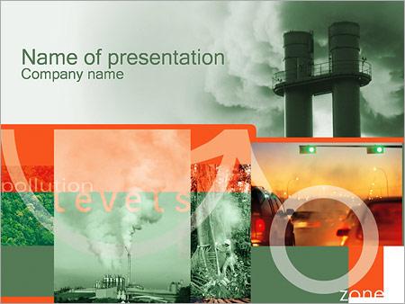 Шаблон презентации Загрязнение воздуха - Титульный слайд