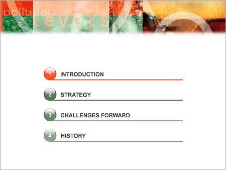 Шаблон для презентации Загрязнение воздуха - Третий слайд