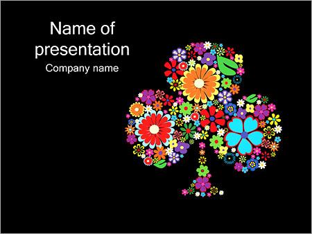 Шаблон презентации Клумба из цветов - Титульный слайд
