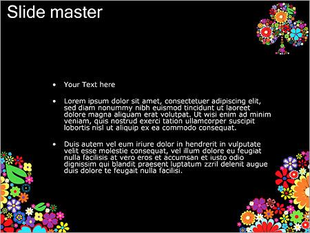 Шаблон PowerPoint Клумба из цветов - Второй слайд