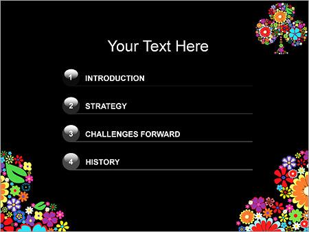Шаблон для презентации Клумба из цветов - Третий слайд
