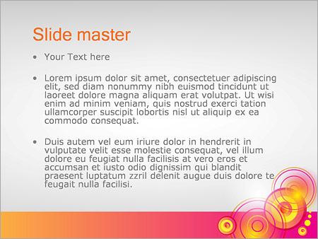 Шаблон PowerPoint Нарисованное пламя - Второй слайд