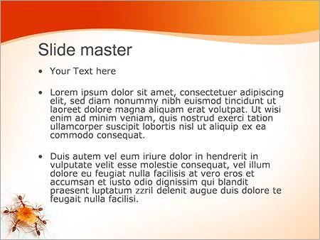 Шаблон PowerPoint Муравьи с сахаром - Второй слайд