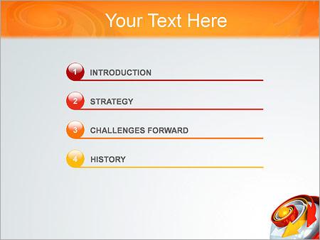 Шаблон для презентации Спиральные стрелки - Третий слайд