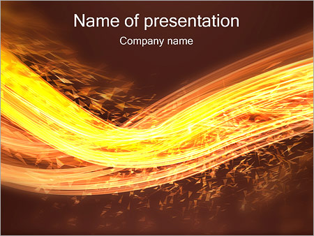 Шаблон презентации Волна из искр - Титульный слайд