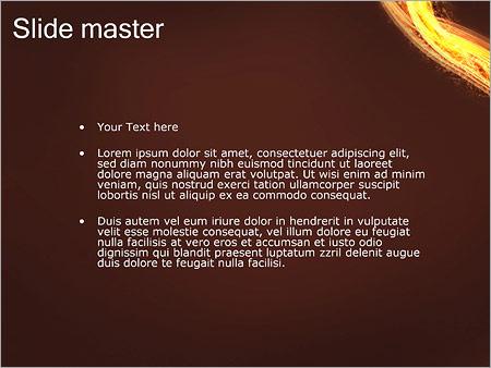 Шаблон PowerPoint Волна из искр - Второй слайд
